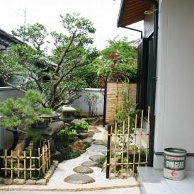 つくばいと灯篭のある風情あふれる和風庭園 姫路市F様邸