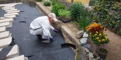 佐用町庭リフォーム工事|草が生えない庭工事
