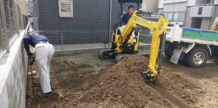 姫路市外構工事|駐車場土間コン工事