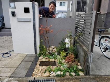 姫路市小さな花壇の植栽工事