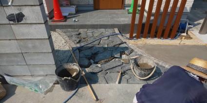 姫路市の外構工事の様子