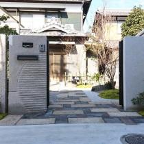 姫路市外構|石門柱で和モダン外構