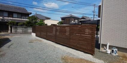 外構木製のフェンス