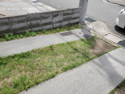 駐車場のコンクリート追加工事