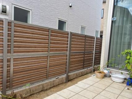 姫路お庭目隠しフェンス|独立フェンス