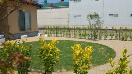 サッカーができる芝生の庭