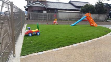 お庭リフォーム工事 人工芝のお庭