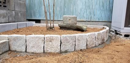 花壇石積工事