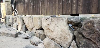 姫路崩れ石積工事