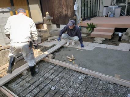 姫路市ガーデンリフォーム|駐車場土間コン工事