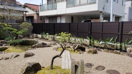 姫路市和庭の草引き不要ガーデンリフォーム工事