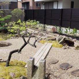 姫路市和庭リフォーム|庭石再利用した和モダンの庭