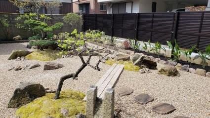 姫路市和庭リフォーム 庭石再利用した和モダンの庭
