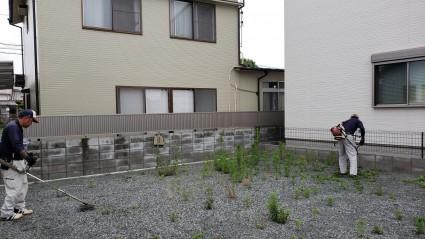 姫路市空き地の除草