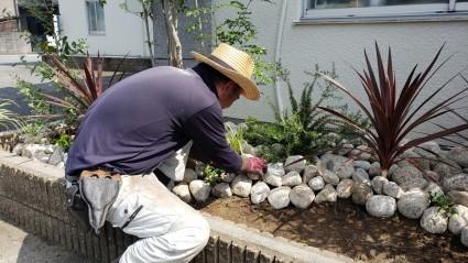 姫路市花壇の植栽工事