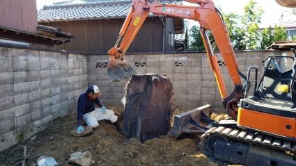 和庭リフォーム|庭石移設工事