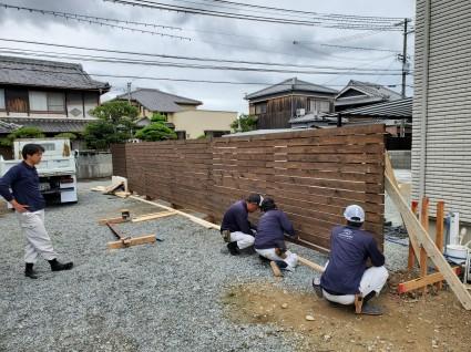 姫路市外構|木製目隠しフェンス