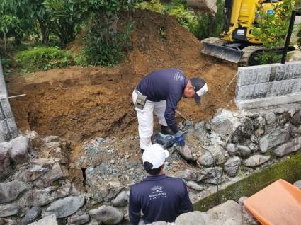 石垣補修工事