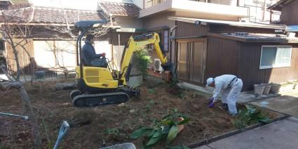 庭のリフォーム工事