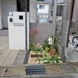 姫路市門柱前植栽工事