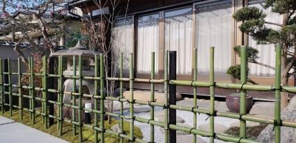 姫路和庭リフォーム工事|天然竹垣