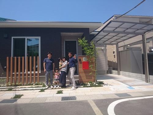 たつの市外構 お庭工事完成記念写真