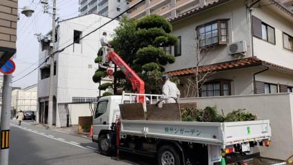 姫路市のお庭のリフォーム工事
