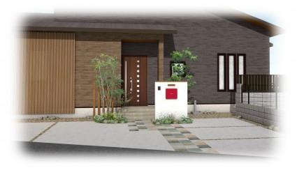 姫路市新築外構|一条工務店のお家
