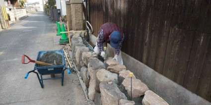 姫路庭の石積み