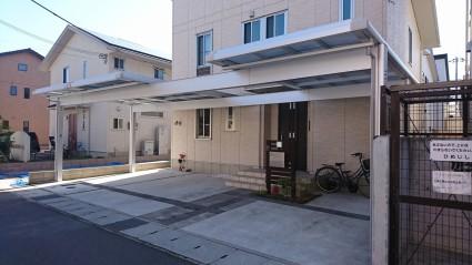 姫路市カーポート屋根追加工事