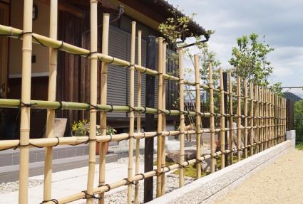 姫路市外構|天然竹垣