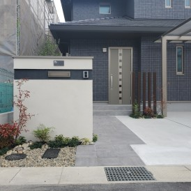 姫路市パナホームのお家外構工事