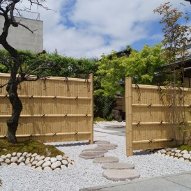 姫路市造園工事|天然竹で建仁寺垣