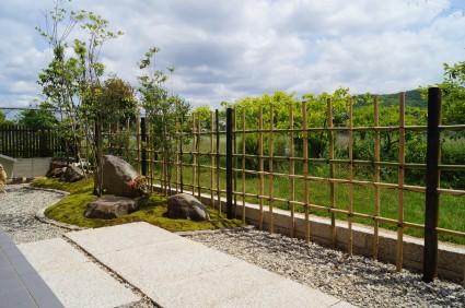 姫路市和モダンのお庭完成写真