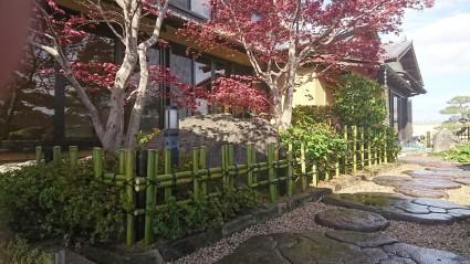 姫路庭|天然竹垣