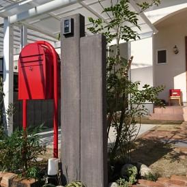コンクリート製枕木門柱