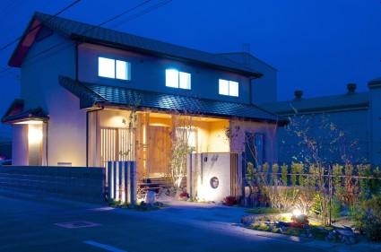 姫路市素敵なライトアップした外構