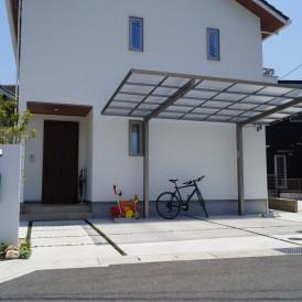 姫路市外構|シンプルモダン住宅の外構デザイン