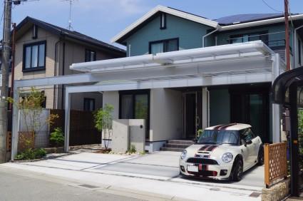 外構追加工事カーポートの屋根