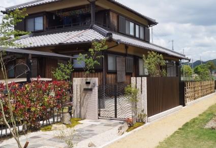 姫路市和風外構 自然素材を使ったお庭づくり