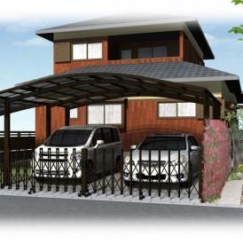 和風住宅の和風モダン外構デザイン