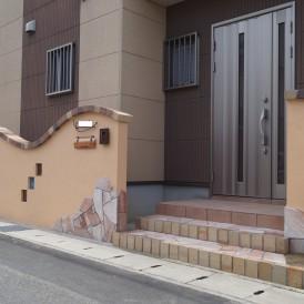 レンガのかわいい塀 姫路市