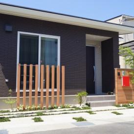 たつの市外構工事|平屋建築の和モダンエクステリア