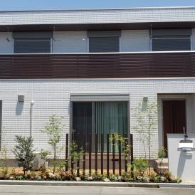 姫路市新築外構|緑豊かなフロントガーデン