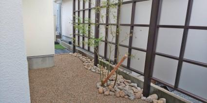姫路庭工事|和モダン目隠しフェンス
